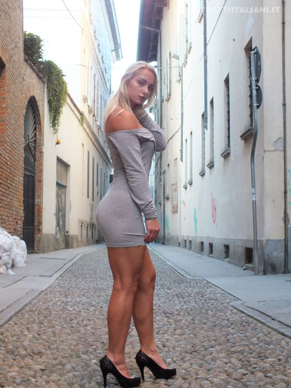 italian girls pics. Alena in the alleys of Pavia Italy