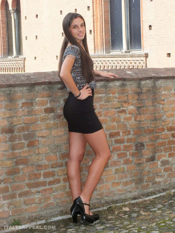 italian girl in the Castle of Pavia north Italy