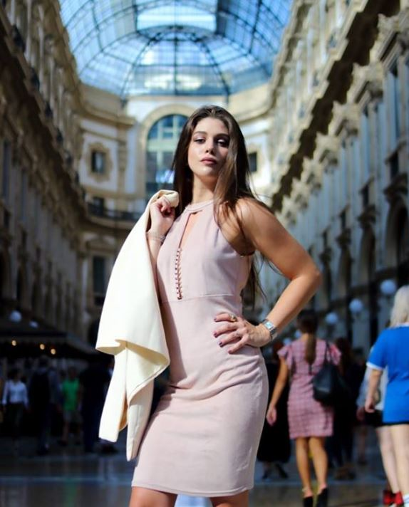 italian model in the Gallery Vittorio Emanuele III Milan Italy